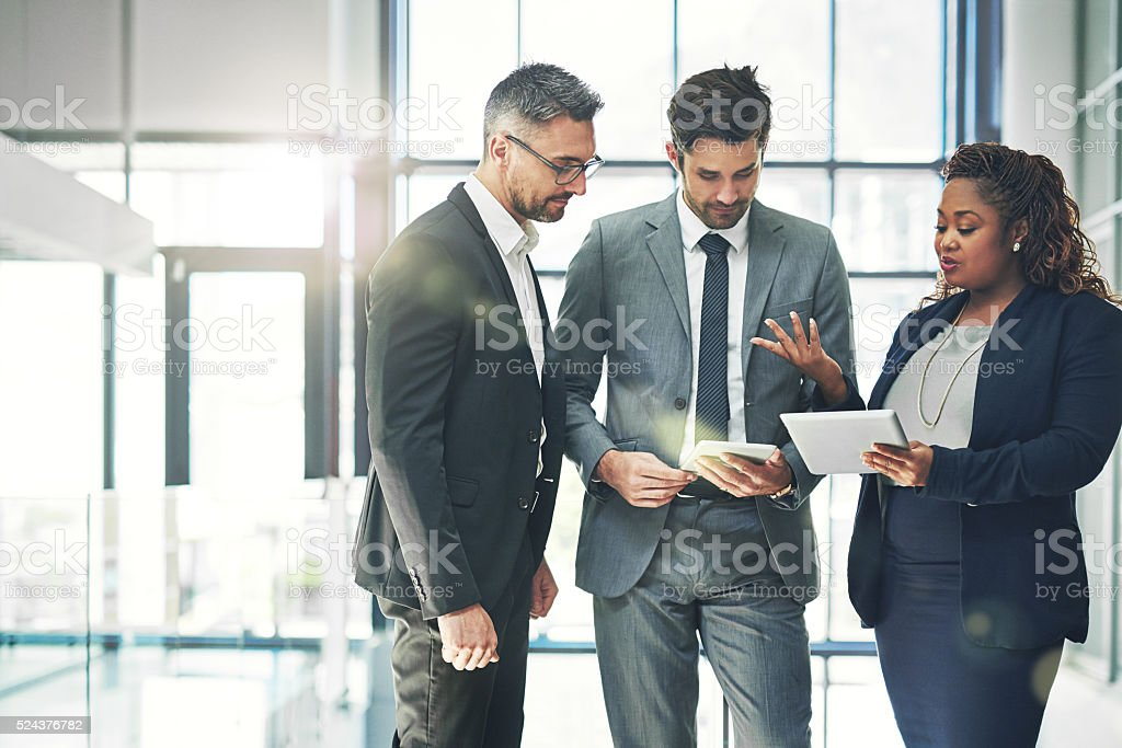 Putting together a plan stock photo