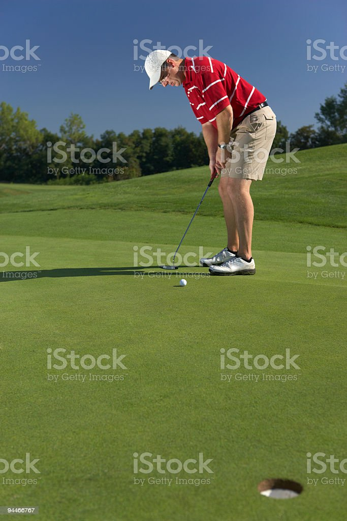 putting with place for text stock photo