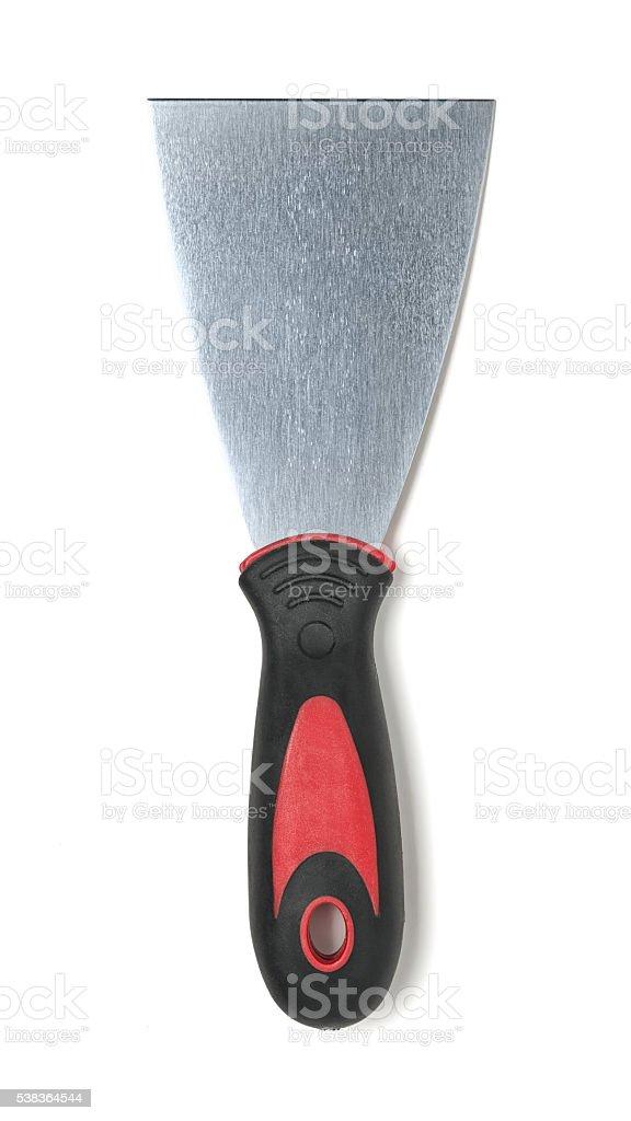 Putty knife isolated on white background stock photo