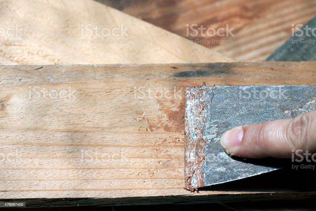 putty knife stock photo