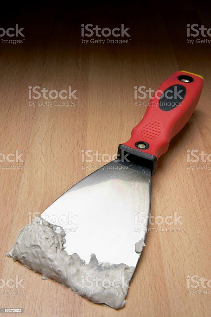 DIY - Putty Knife stock photo