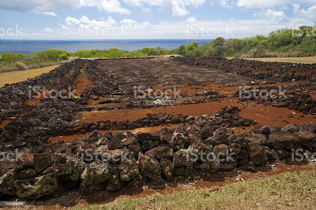 Puu O Mahuka Heiau stock photo