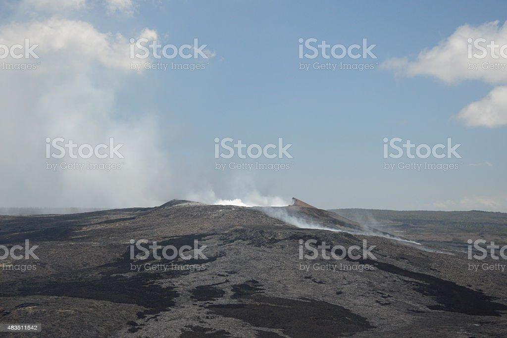 Pu'u 'O'o active volcanic vent stock photo