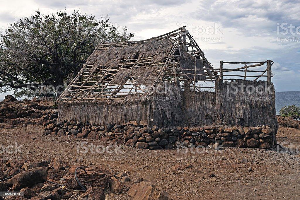 Puukohala Heiau National historic site in Big Island of Hawaii royalty-free stock photo