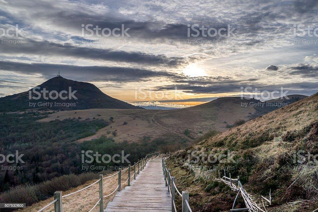 Puy de Dôme stock photo