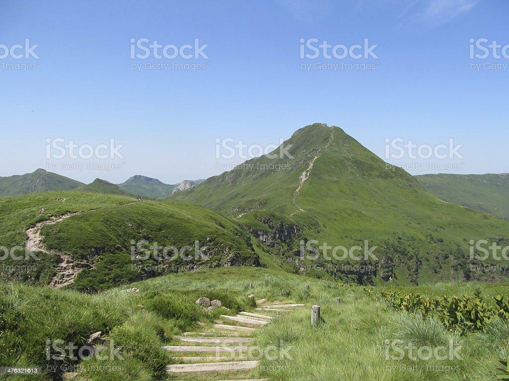 Puy Mary - Parc des volcans d'Auvergne stock photo