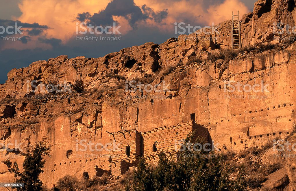 Puye Cliff Dwellings stock photo