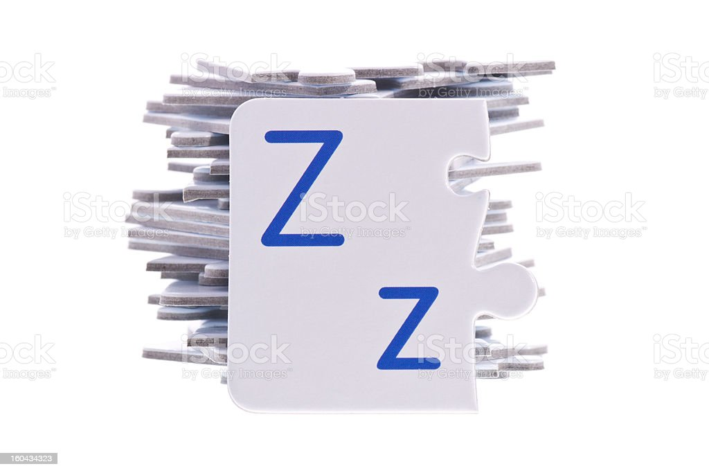Puzzle alphabet and Letter Z royalty-free stock photo