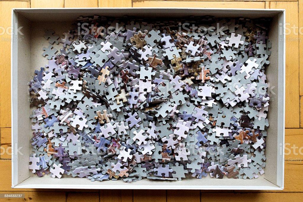 puzzle box stock photo