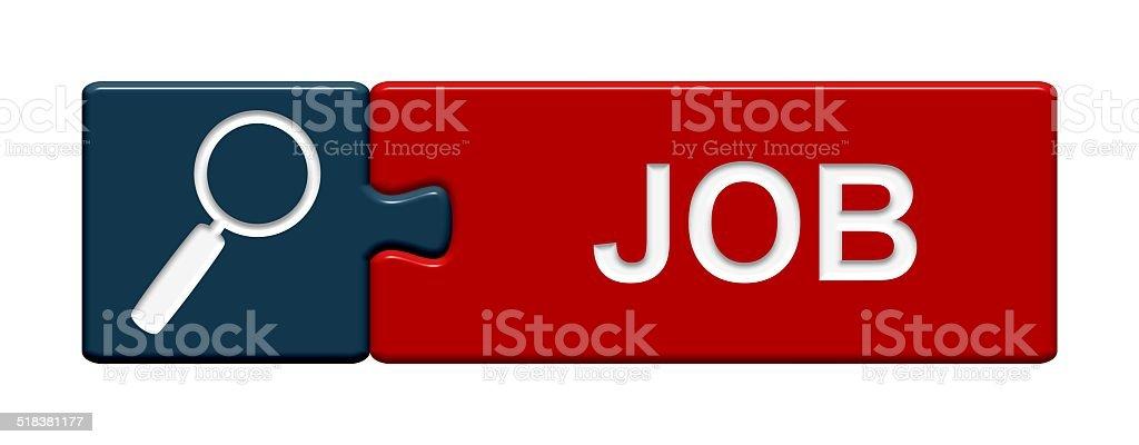 Puzzle Button Job stock photo