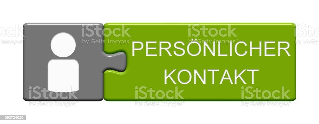 Puzzle Button: Personal Contact german stock photo