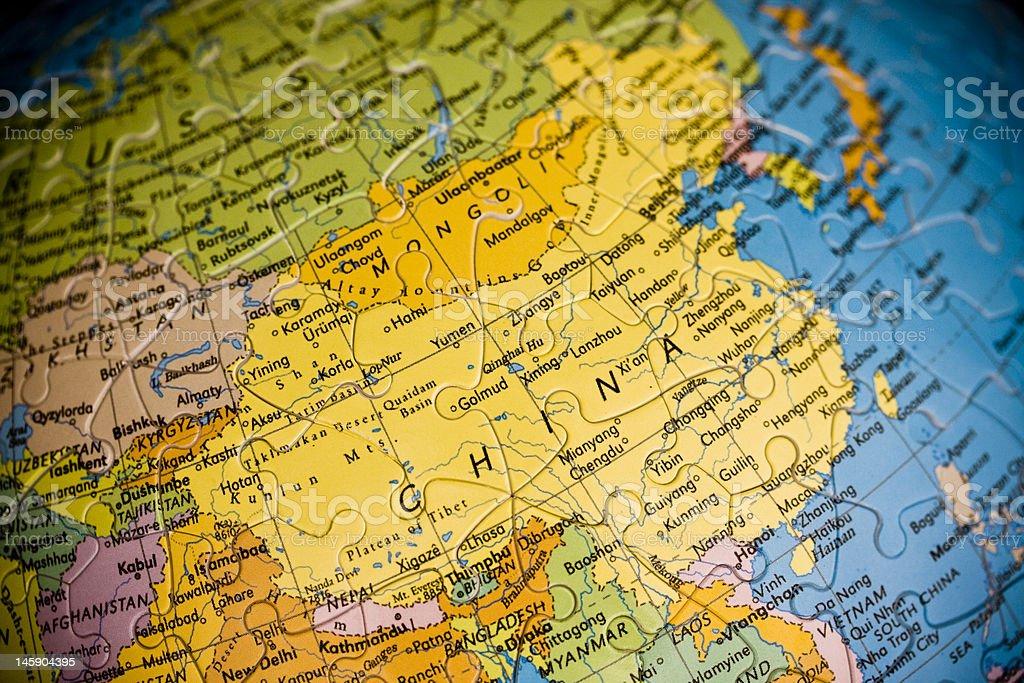 Puzzle China Map royalty-free stock photo