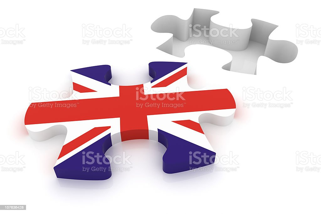UK Puzzle Concept royalty-free stock photo