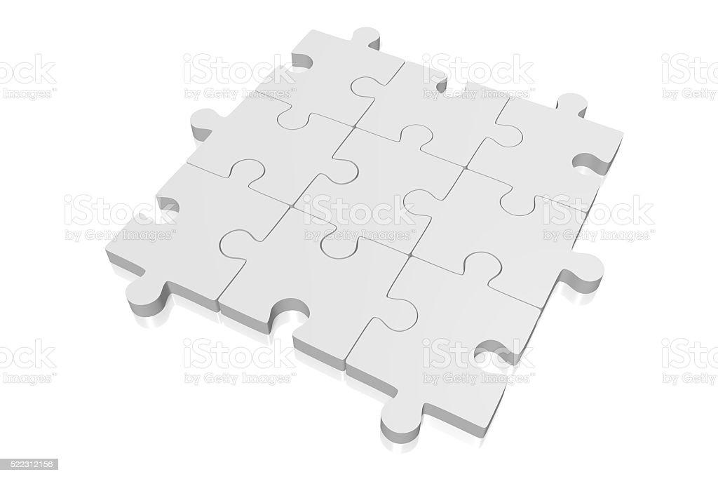 3D puzzle concept stock photo