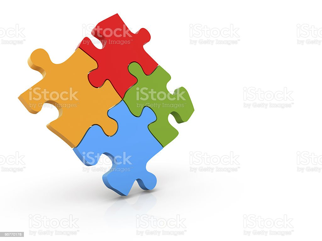 Puzzle Concept royalty-free stock photo