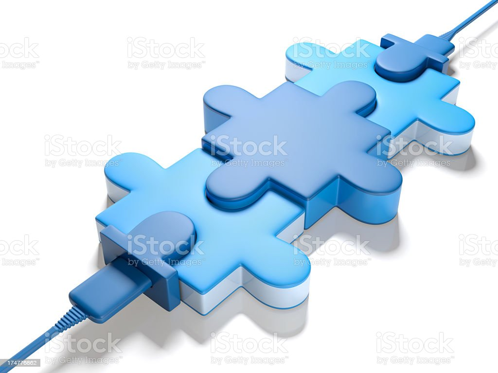 Puzzle Connect stock photo
