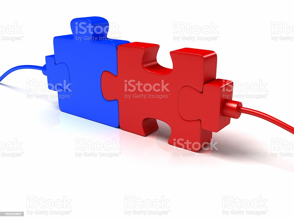 Puzzle Connection royalty-free stock photo