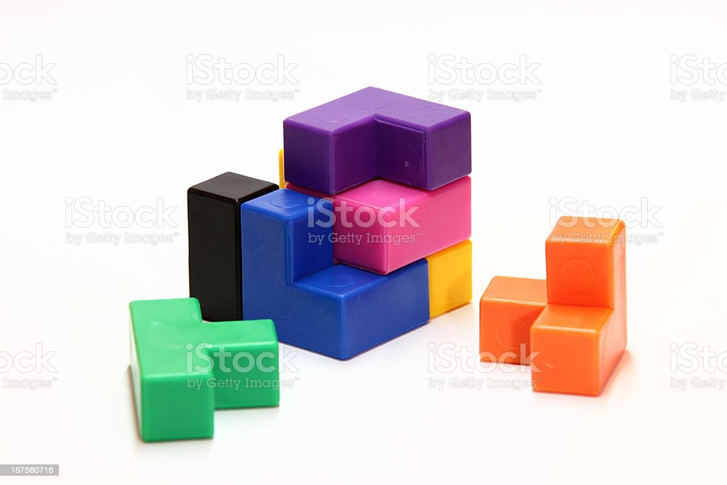 Puzzle cube royalty-free stock photo