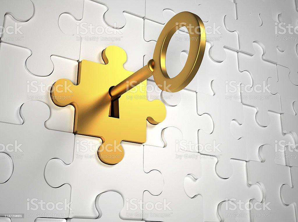 Puzzle door stock photo