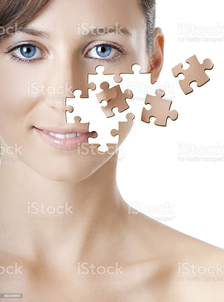 Puzzle Face royalty-free stock photo