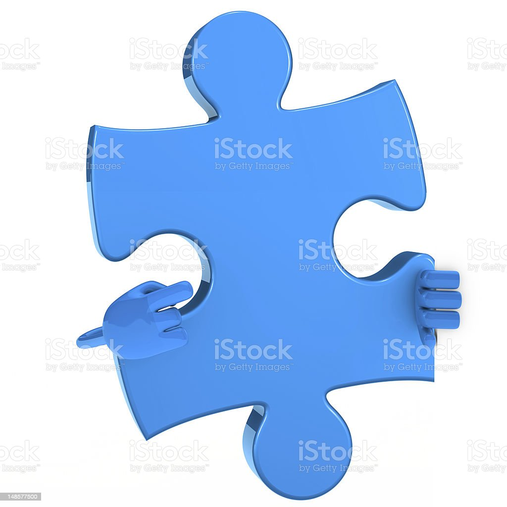 puzzle figure point royalty-free stock vector art