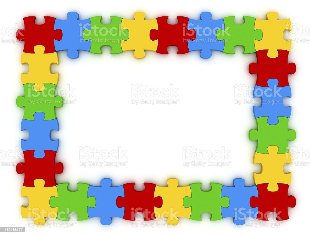 puzzle frame stock photo 182188777 istock. Black Bedroom Furniture Sets. Home Design Ideas