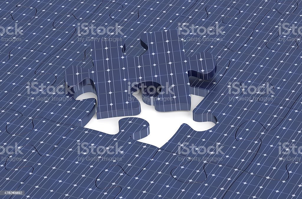 puzzle from solar sell stock photo