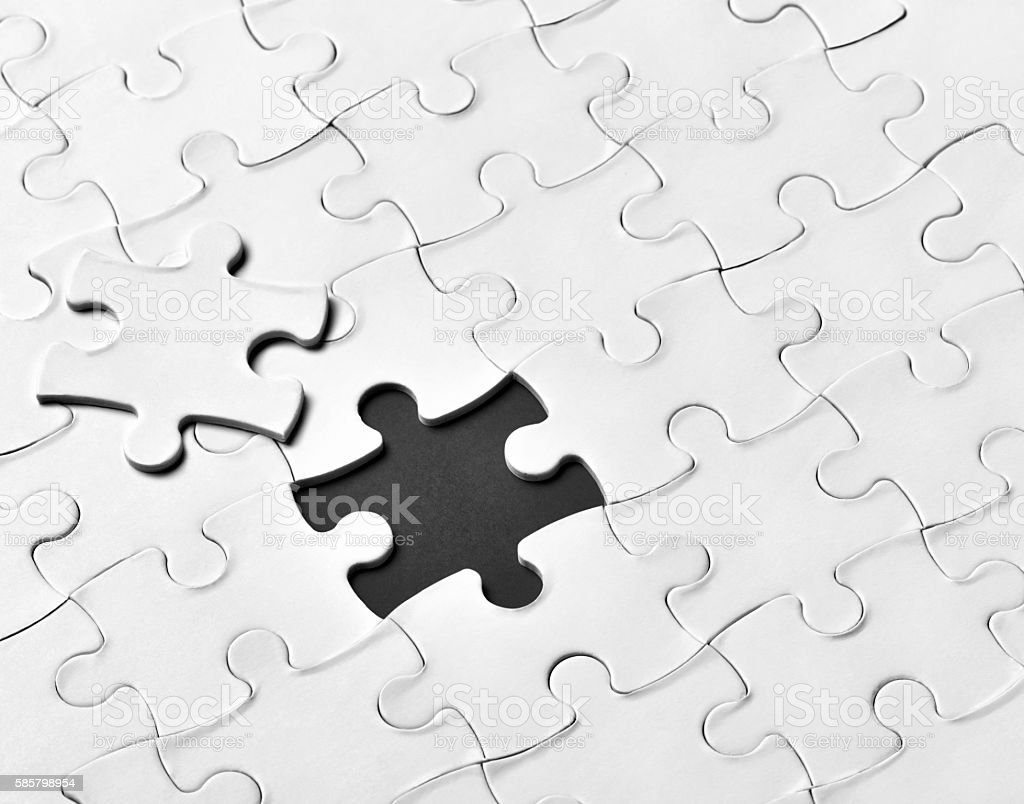 puzzle game solution teamwork stock photo
