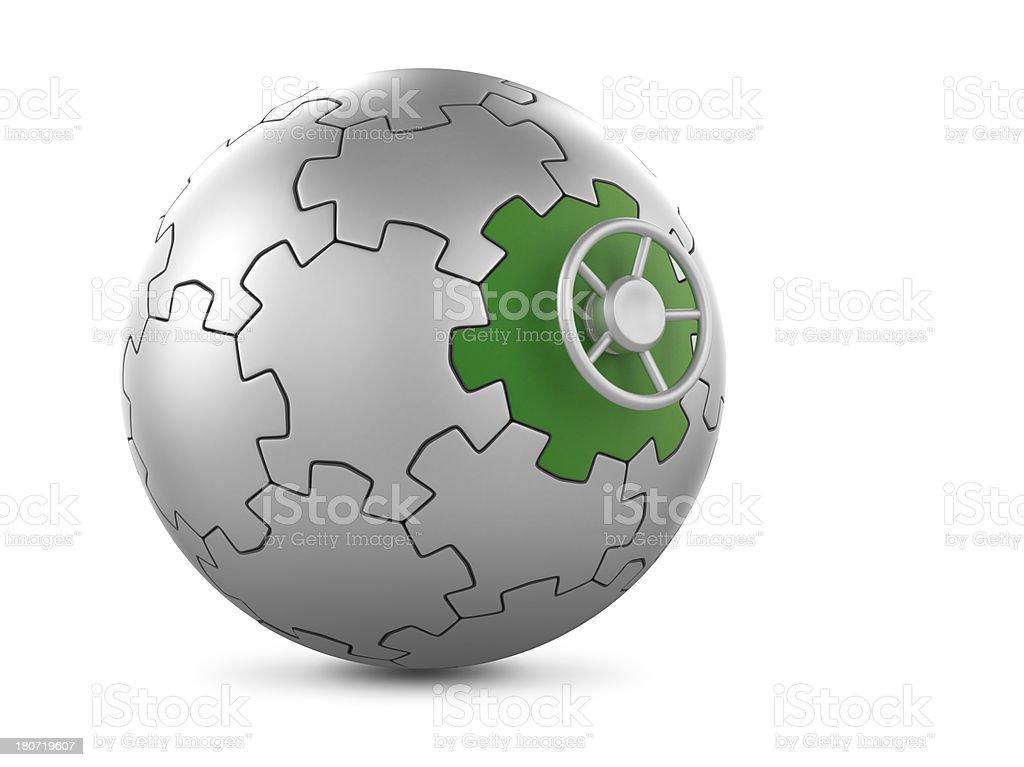 Puzzle globe vault royalty-free stock photo