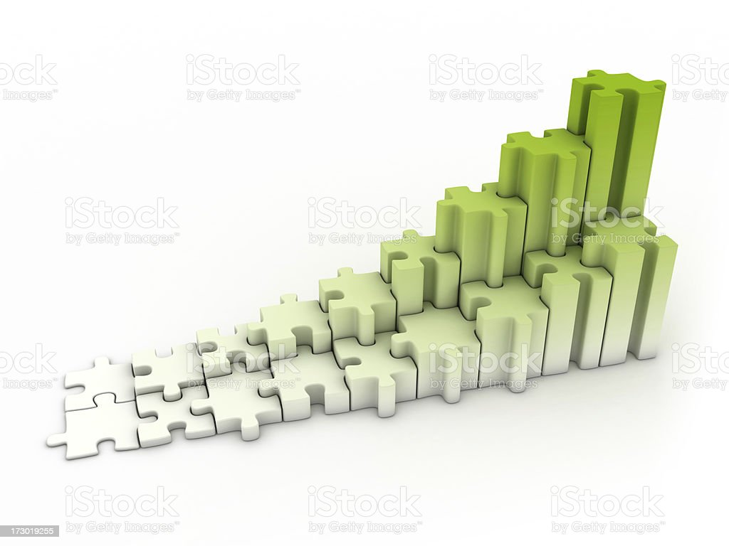 puzzle graph royalty-free stock photo