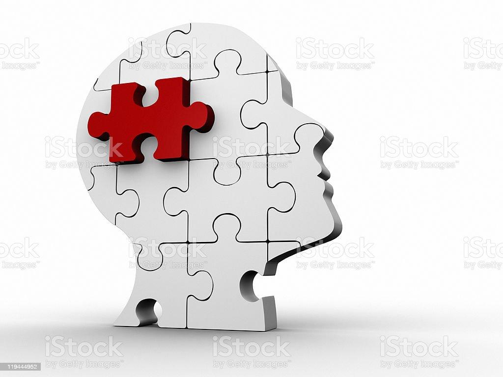 Puzzle head royalty-free stock photo