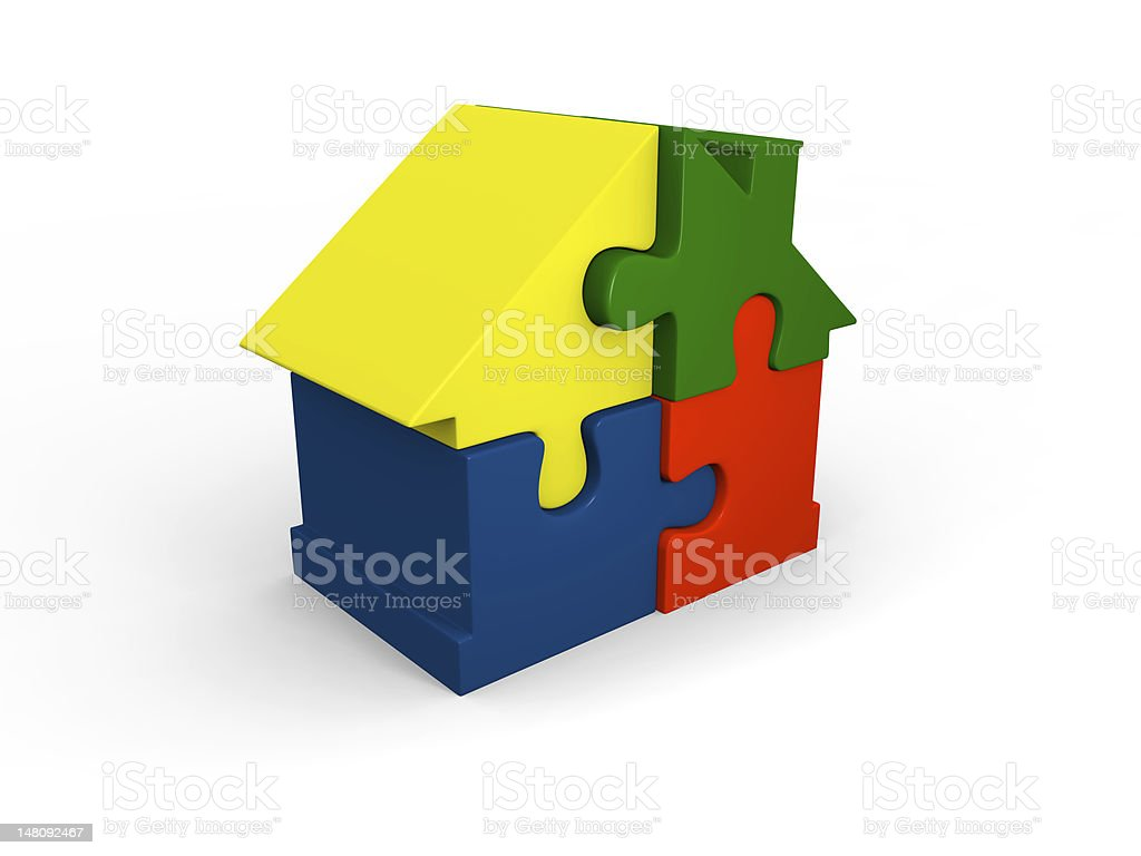 Puzzle home royalty-free stock photo