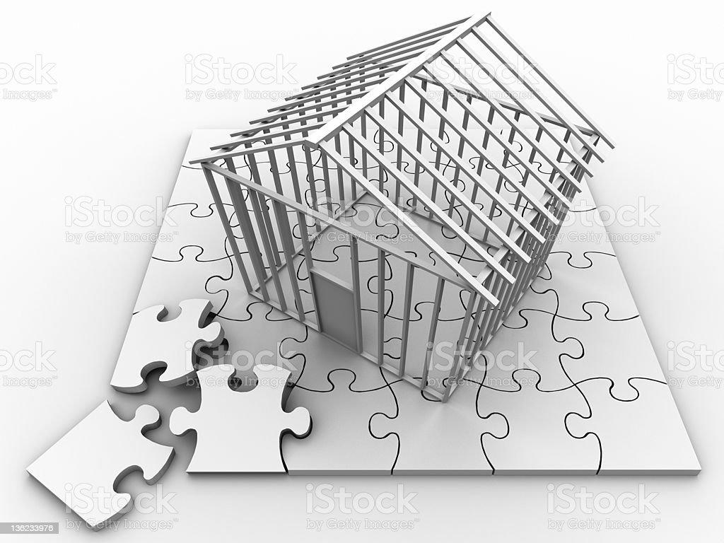 Puzzle House stock photo