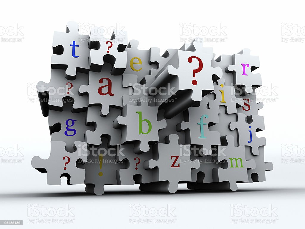 Puzzle latters royalty-free stock photo
