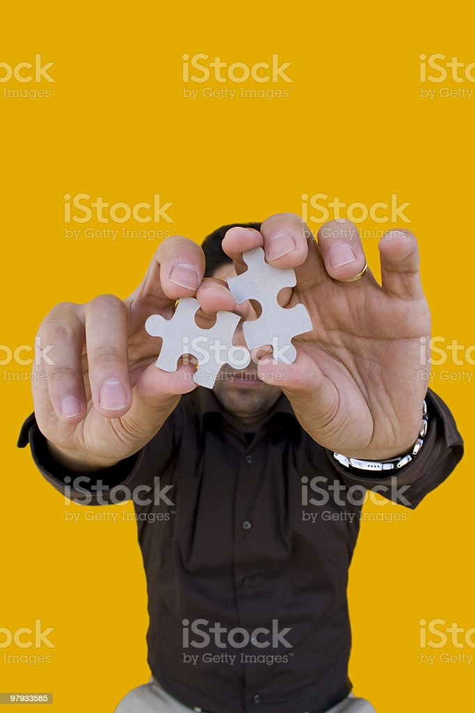 Puzzle man royalty-free stock photo