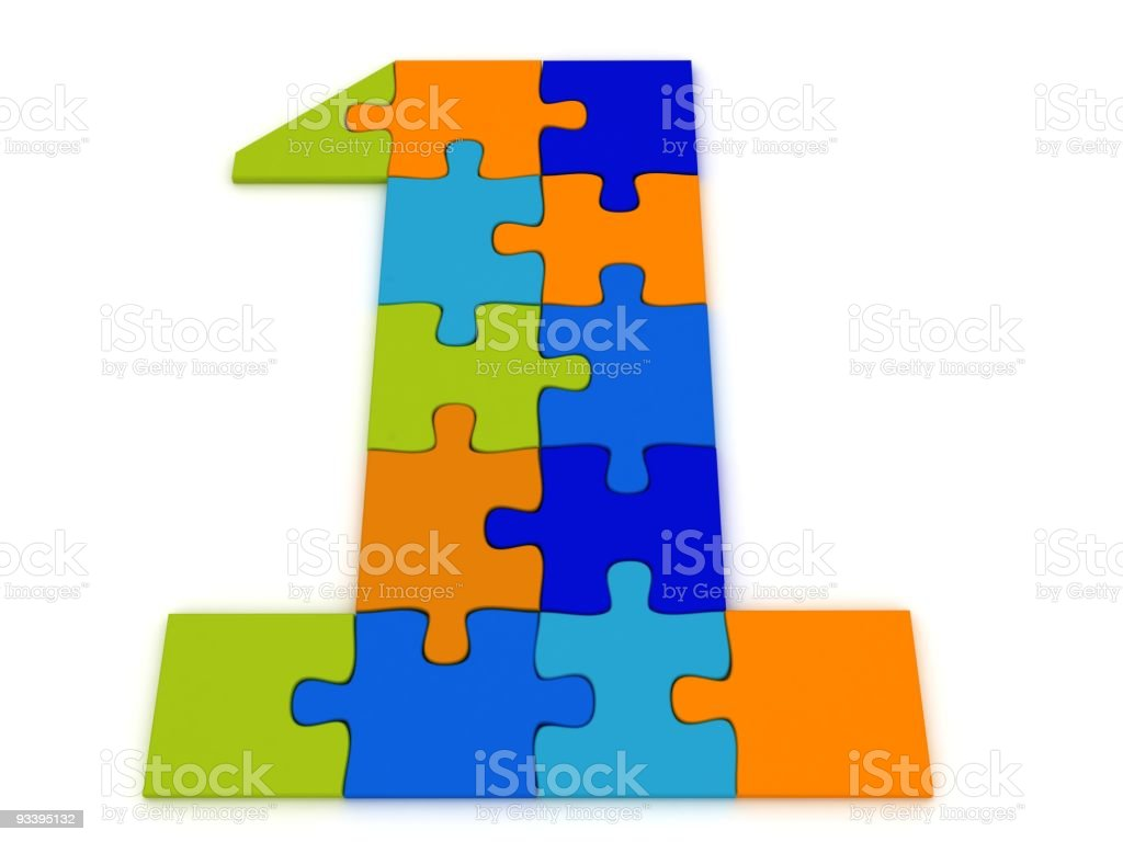 Puzzle Number One royalty-free stock photo