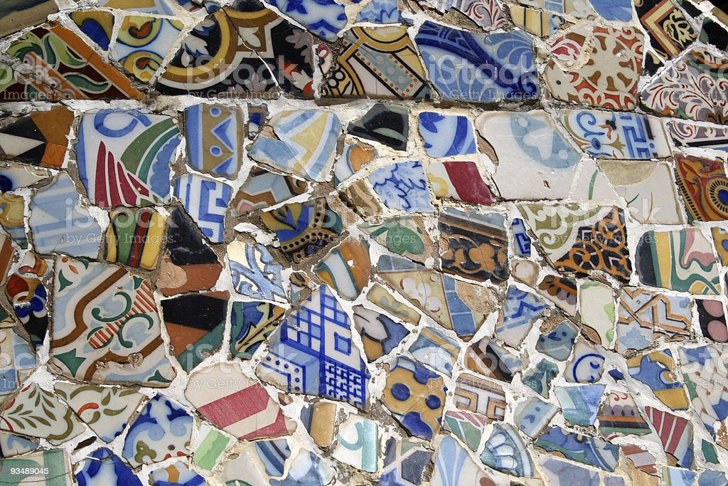 Puzzle of Tiles stock photo