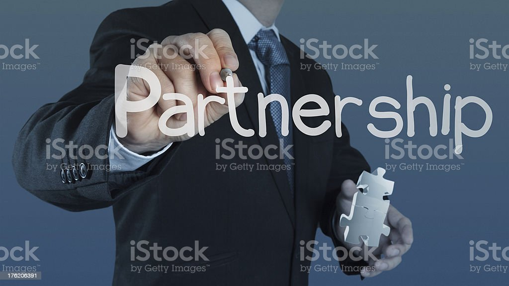 puzzle partnership royalty-free stock photo