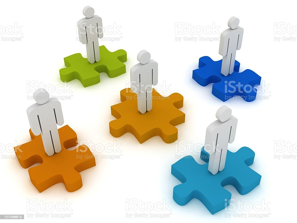 Puzzle People royalty-free stock photo
