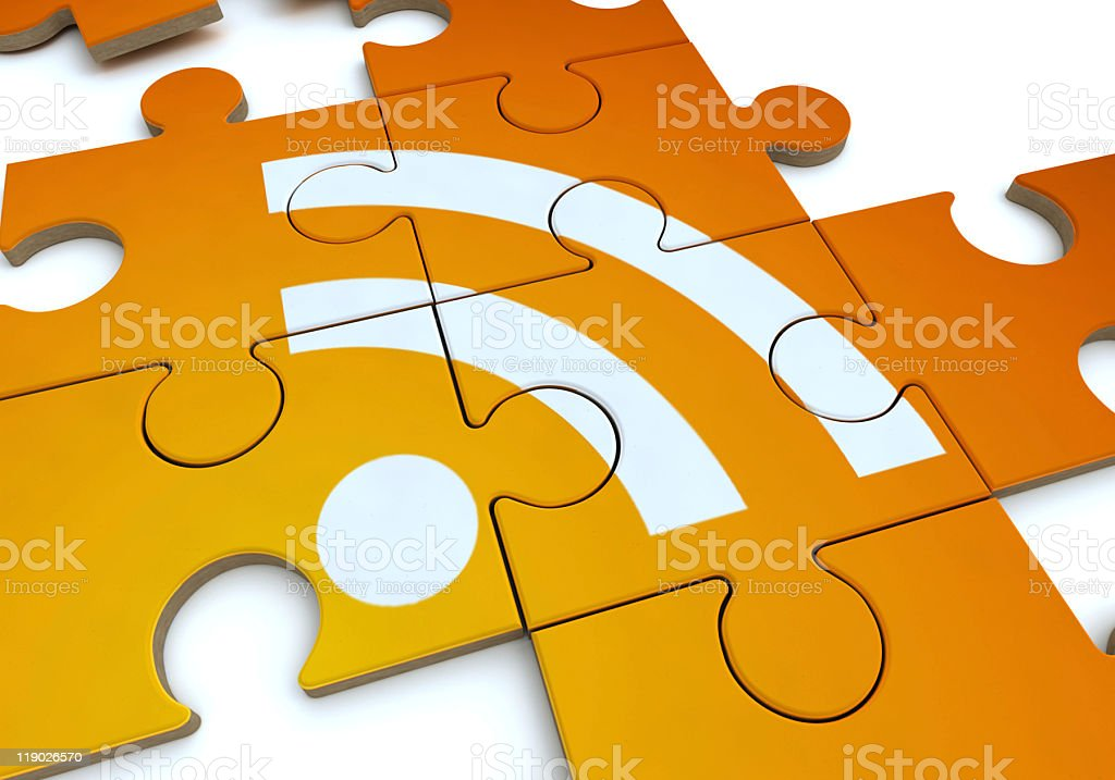 RSS puzzle stock photo