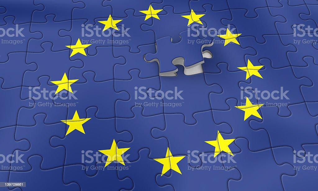EU puzzle royalty-free stock photo