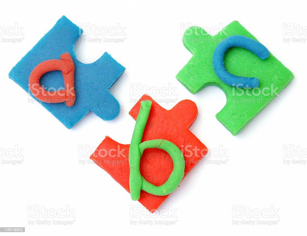ABC puzzle royalty-free stock photo