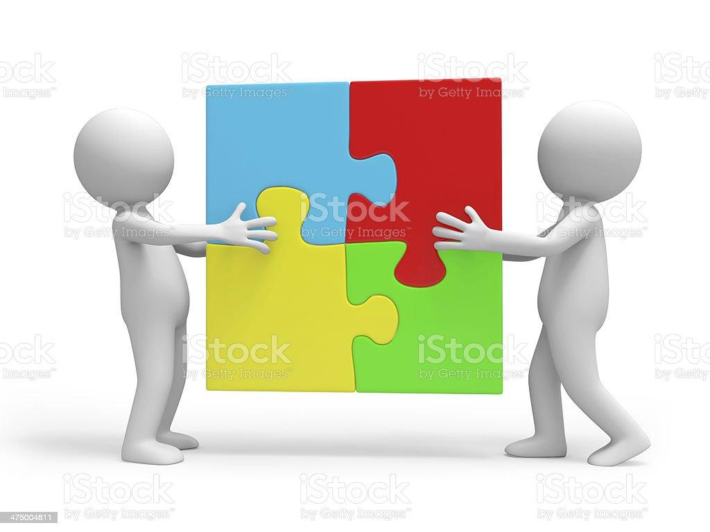 puzzle stock photo