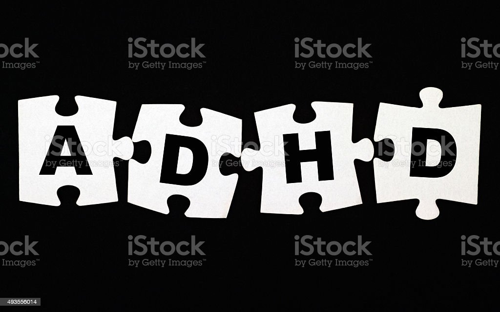 ADHD puzzle stock photo