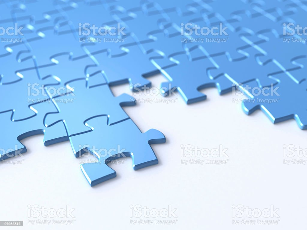 3D puzzle royalty-free stock photo