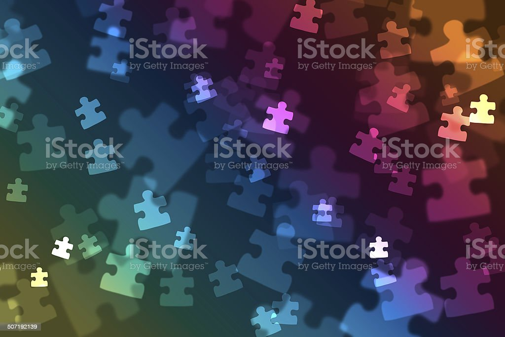 Puzzle piece bokeh royalty-free stock photo