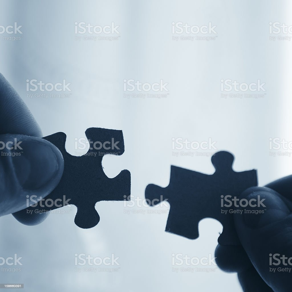Puzzle piece - Connection Theme stock photo