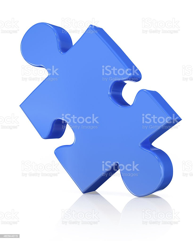 3D puzzle piece royalty-free stock photo