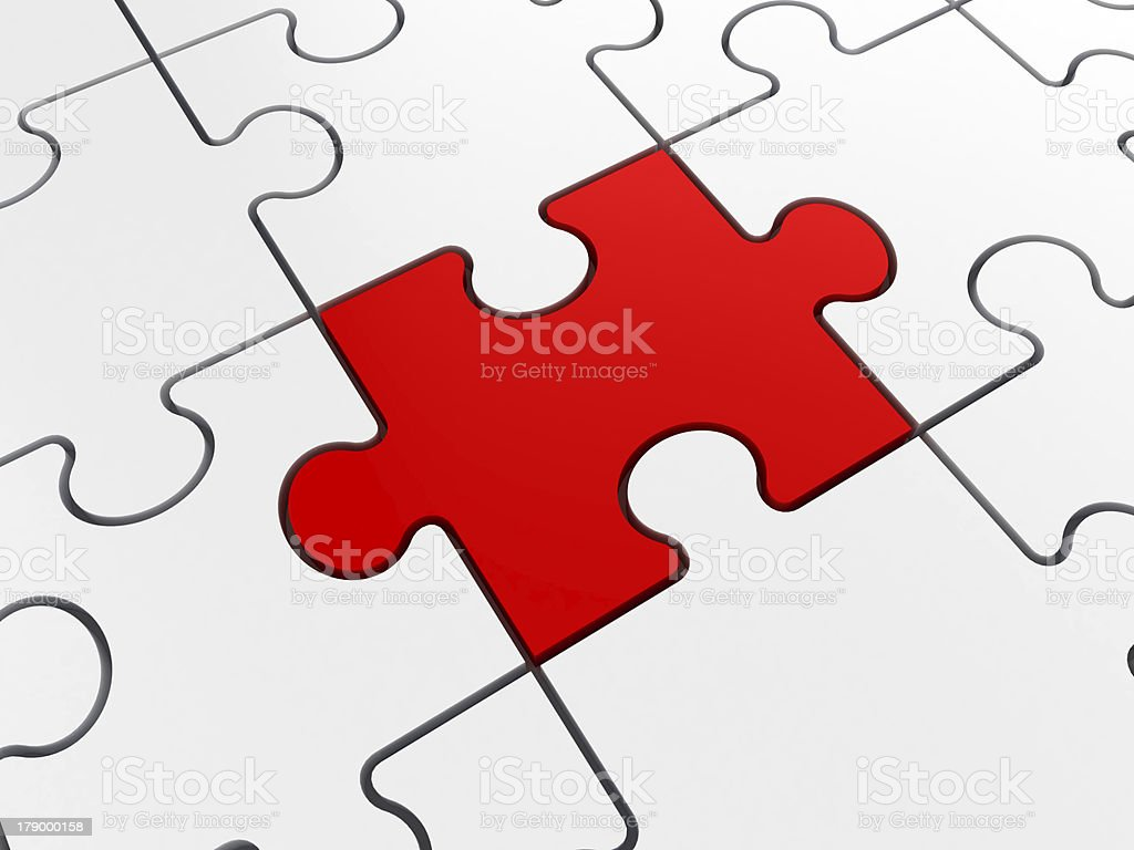 Puzzle Piece Standing Out royalty-free stock photo