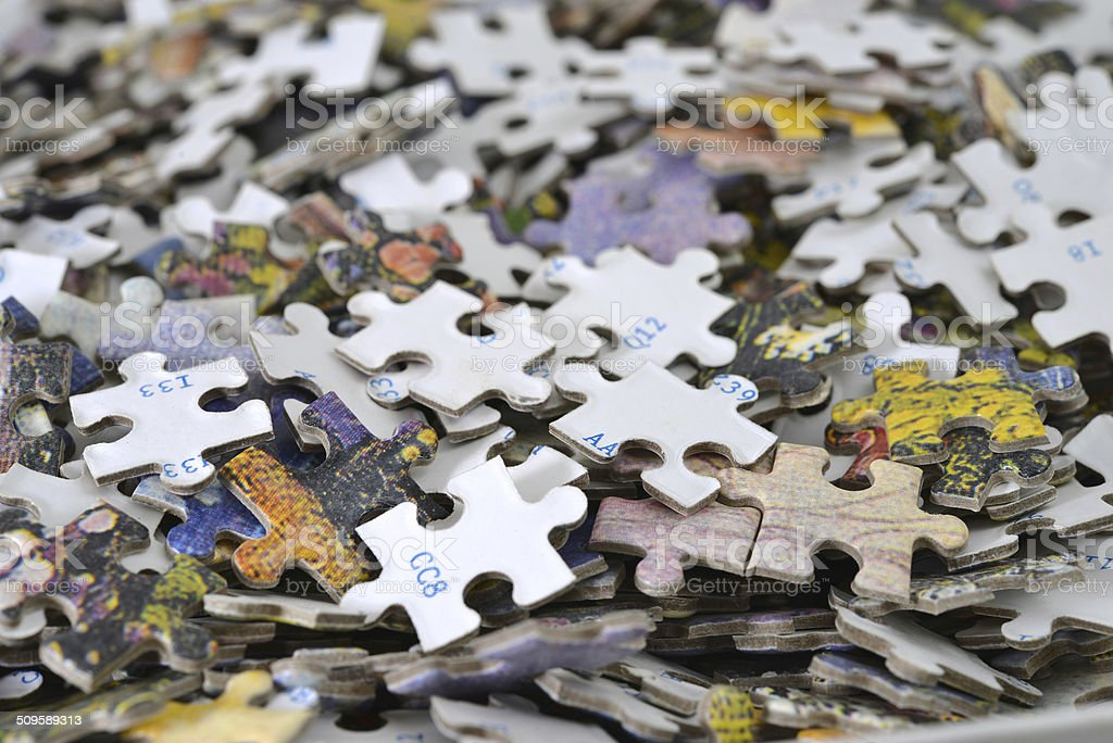 Puzzle pieces background stock photo